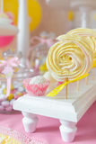 Table with candy bar Royalty Free Stock Photos
