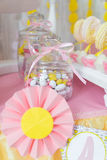 Table with candy bar Stock Images
