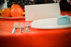 Table card with no text or shape Royalty Free Stock Image