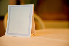 Table card without text Stock Photography
