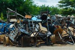 Table cassée de banc Image stock