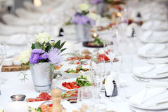 A table for celebrating Royalty Free Stock Photo
