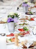 A table for celebrating Royalty Free Stock Image