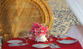 Table center piece. table decoration Royalty Free Stock Image