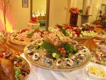 Table chère d'huître Images stock