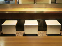 Table and chair. In food court Stock Photography