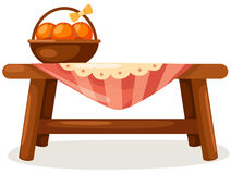 Table and chair stock illustration