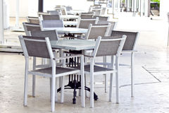 Table Chair for Customer Stock Image