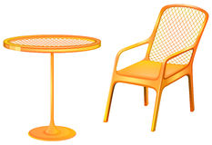 A table and chair furniture Royalty Free Stock Photography