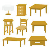 Table Chair Furniture Wood Vector Design Stock Photography