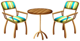 Table and chair furnitures Royalty Free Stock Photo