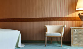 Table,chair,lamp, room Royalty Free Stock Photo