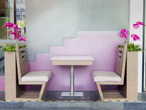 Table and chair in restaurant Stock Images