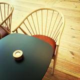 Table and chair in a restaurant Royalty Free Stock Images
