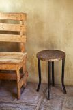 Table and chair, rustic Stock Images