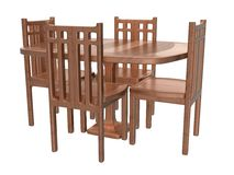Table Chair Set_Raster Stock Photos
