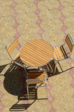 Table and chair on the street Royalty Free Stock Photos