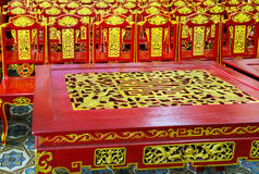 Table chair temple asia Royalty Free Stock Image