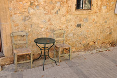 Table and chairs Stock Image