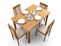 Table & chairs Stock Photography