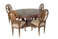 Table with chairs of 18 century Royalty Free Stock Photography