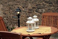 Table and chairs. In Castiglione della Pescaia - Tuscany - Italy Royalty Free Stock Image