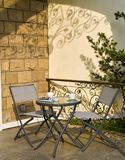 Tables and chairs in restaurant . Seat, relaxation. royalty free stock photos