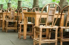 Tables chairs Stock Photography