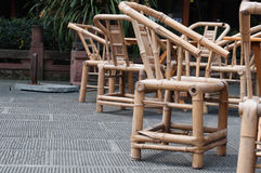 Bamboo chairs Stock Image