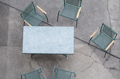 Table with Chairs Closeup Stock Photo