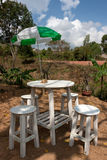 Table and chairs for coffee drinking. Table and chairs for coffee outdoor Royalty Free Stock Photos