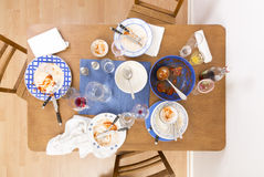 Table, chairs and dishes Stock Photo