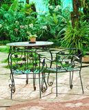 Table with chairs in the garden Royalty Free Stock Images