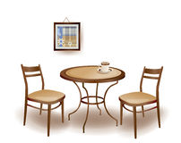 table and chairs vector illustration