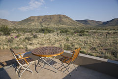 Table and Chairs in the Karoo Royalty Free Stock Photo