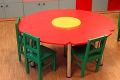 Table and chairs for kindergarten Royalty Free Stock Photography