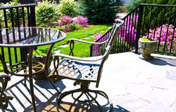 Table and Chairs / Landscaping royalty free stock photography