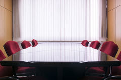 Table and chairs in the meeting room Stock Photos