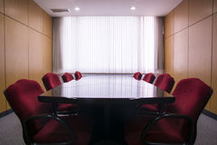 Table and chairs in the meeting room Stock Photo