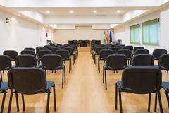 Table and chairs in meeting room Royalty Free Stock Images