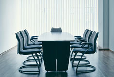 Table and chairs in office Stock Photography
