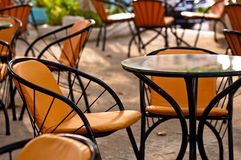 Table and chairs in a restaurant Royalty Free Stock Images