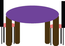 Table with chairs Stock Photography