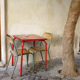 A Table And Chairs On the stereet Royalty Free Stock Image
