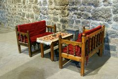 Table and chairs in tea house Royalty Free Stock Photography