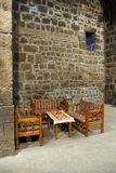 Table and chairs in tea house Royalty Free Stock Photo