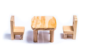 Table and chairs toy furniture Stock Photos