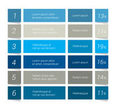 Table, chart, schedule. Infographics elements. Stock Image
