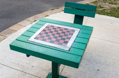 Table with Chessboard Royalty Free Stock Photography