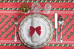 The table at Christmas Royalty Free Stock Images